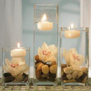 Flores y velas, una combinación muy romántica