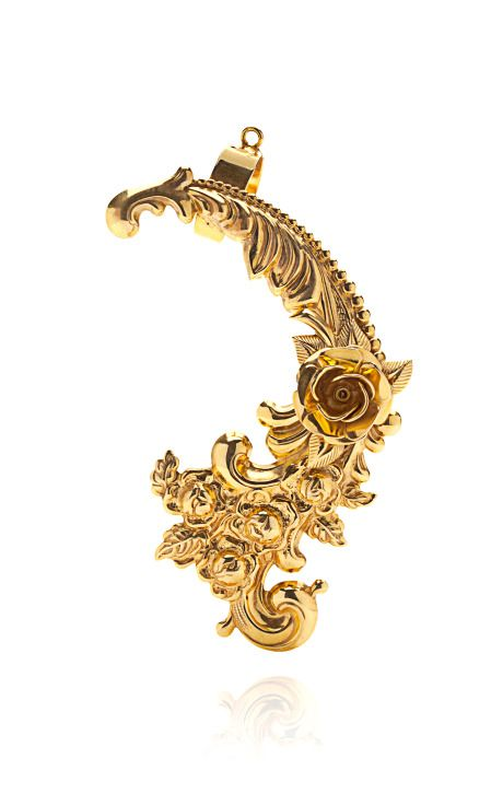 Gold Plated Baroque Ear Cuff by Mordekai via Moda Operandi