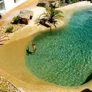 A pool that looks like a beach!
