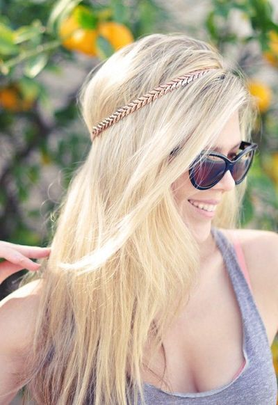 DIY Diadema hecha de collar antiguo