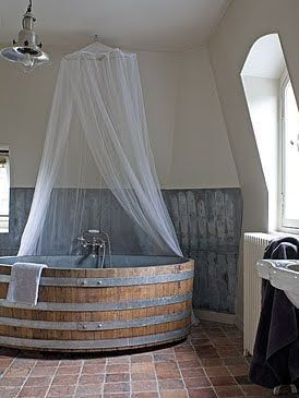 Wine Barrel Tub.