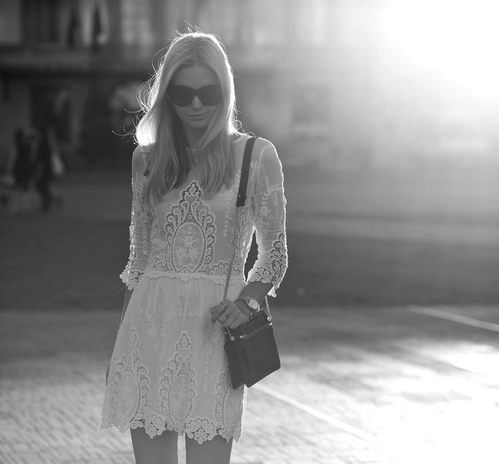 flirty lace eyelet dress