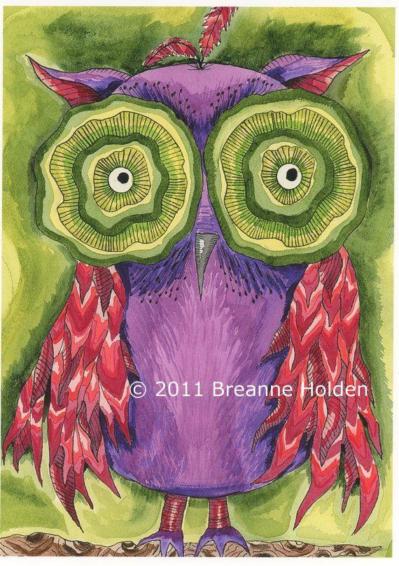 'Whimsical Owl' by Breanne Holden