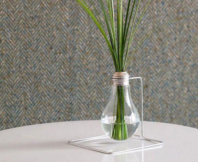 Chic Bud Vase | 20 Brilliant Ways to Repurpose Lightbulbs
