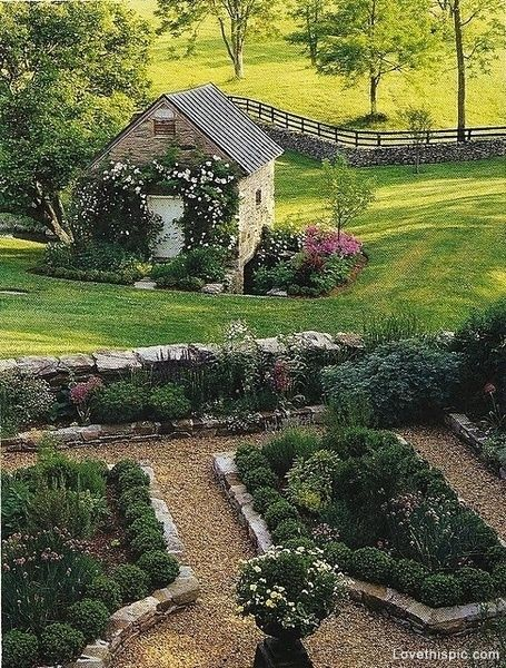 English Countryside Garden beautiful flowers garden plants england cottage english countryside
