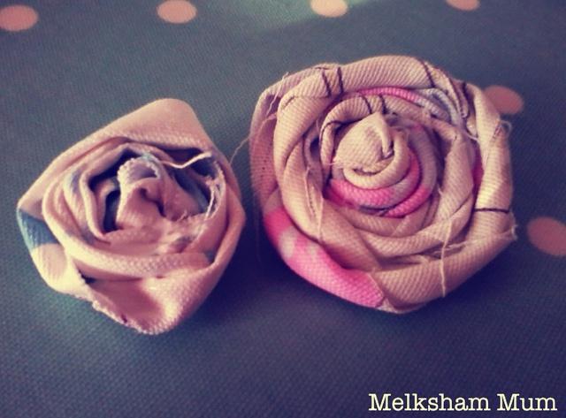 Melksham Mum: Shabby Chic Rosette Flowers