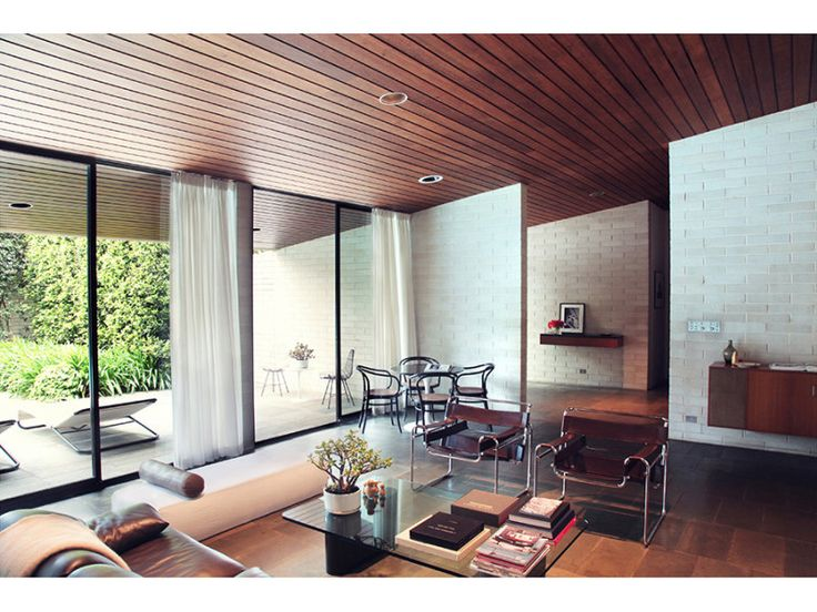 Gissing House by Harry Seidler - View of living room (realestate.com.au)