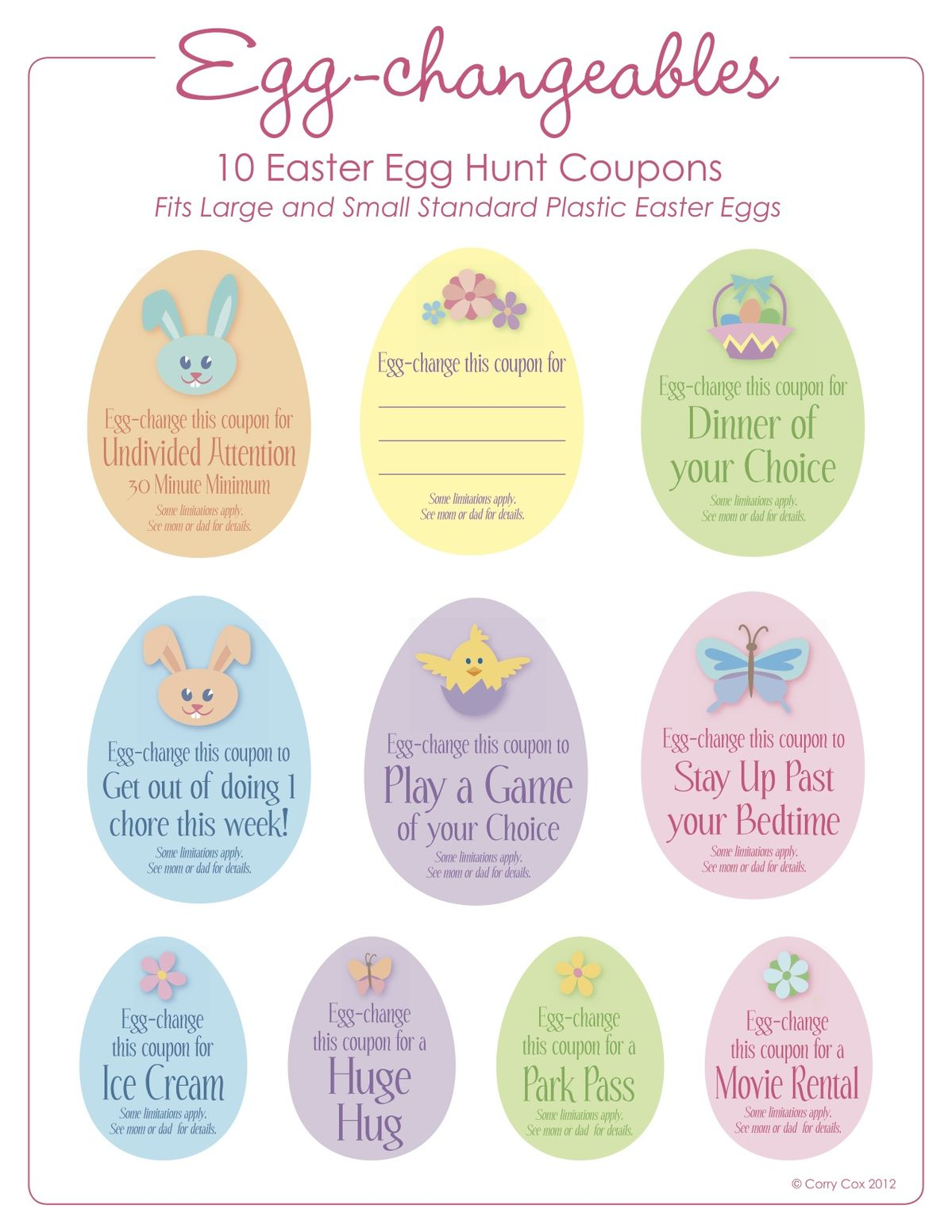 Printable Easter Egg Hunt