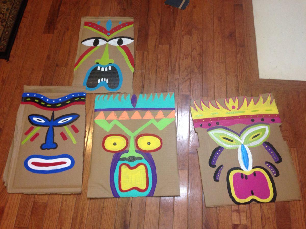 Printable Tiki Mask Template From Printabletreats