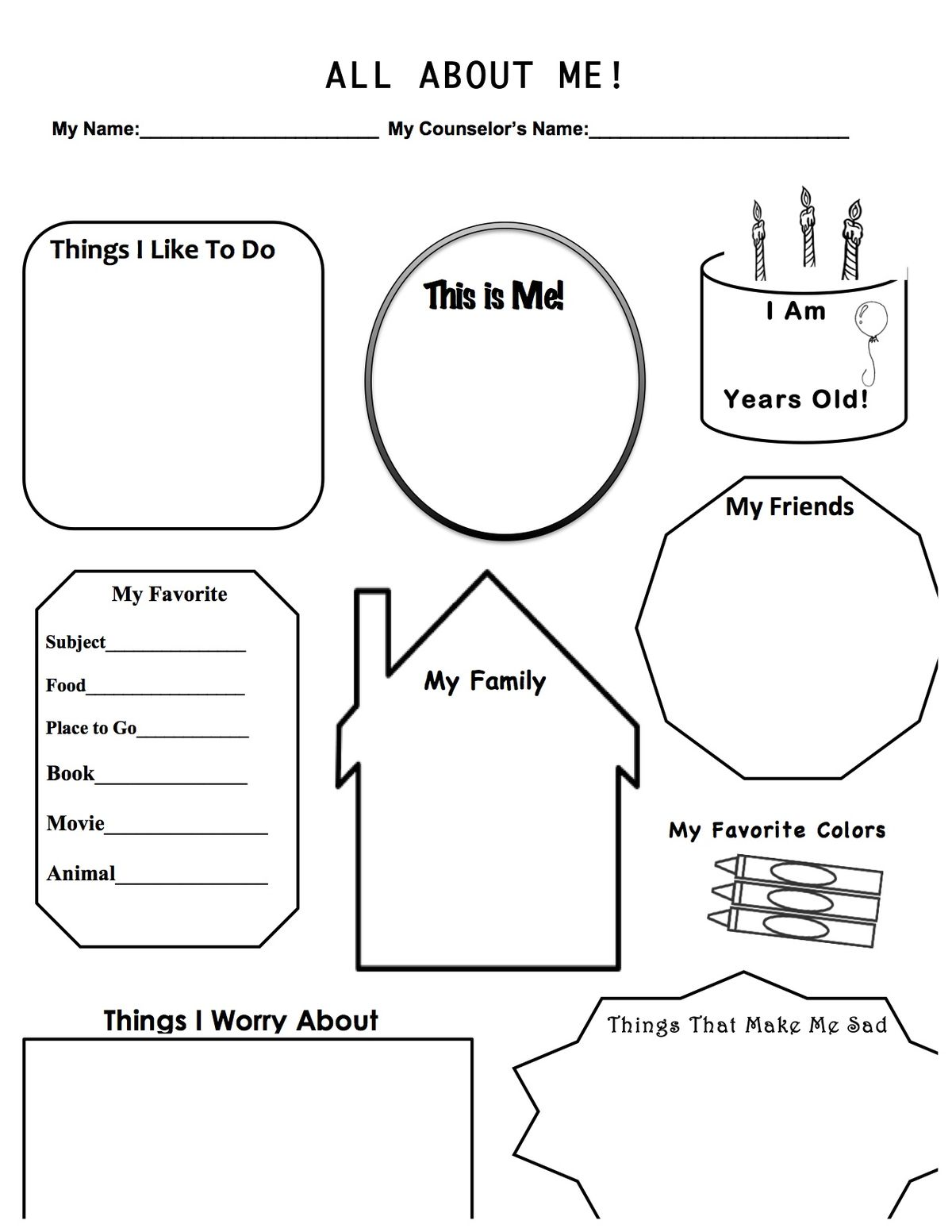 Images About Anxiety Worksheets