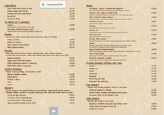 FlAX BAR MENU #Lowestoft