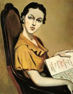 Portrait of Sheila Pickering (1935). Balthus - Count Balthasar Klossowski de Rola (French ~ 1908-2001).