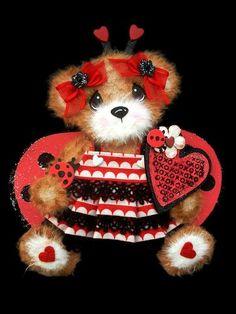 Ladybug Love Bug Girl Baby Tear Bear Paper Piecing Premade