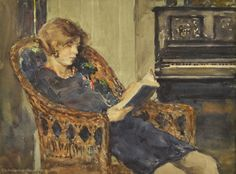 John Louis Wellington, Woman Reading a Book