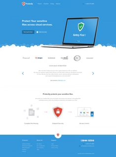 protectly free website template flat free landing page layout