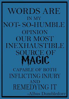 Harry Potter Dumbledore quote Art Pint Wall Art by geeksleeksheek