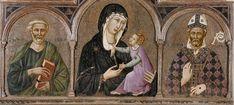 Ugolino di Nerio, Madonna col Bambino e Santi (detail), 14th century. Certaldo, Museo di arte sacra
