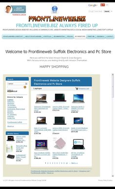 Frontlineweb Website Designers #Suffolk Electronics and Pc Store