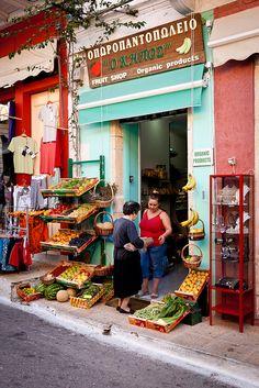 Fruit shop in Vasiliki,Greece