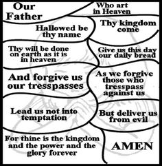 Image Result For Free Printable Bible Coloring Pages Printables Lords Prayer