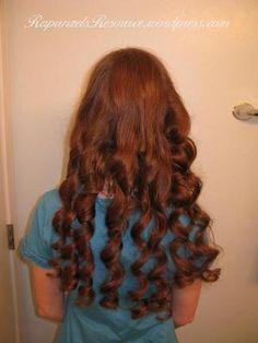 bandana curls on pinterest
