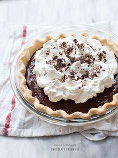 Chocolate Cream Pie is an easy homemade custard dessert