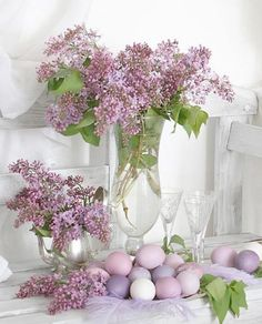 Purple Spring Decor