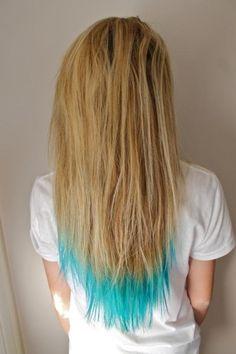 blue tips on pinterest lemon hair highlights blue tips hair and bl
