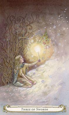 Fairy Tale Tarot - 3 van zwaarden