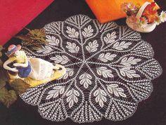 Lace crochet mat