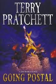 Terry Pratchett's Going postal. I am besotted with Terry Pratchetts Discworld series, this is the one that got me hooked. Hilariously bizarre satire.