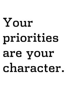 How do you set your priority? (part 1)