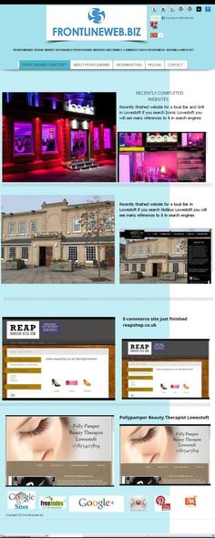 Frontlineweb Website Design/Designers Lowestoft 4 page Website just £140