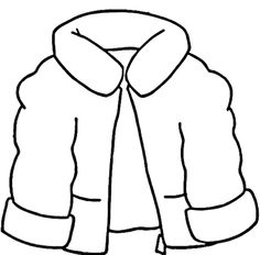 winter jacket coloring page images amp pictures becuo
