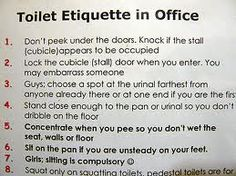 Signs For Office Bathroom Etiquette Clean Office Bathroom Etiquette
