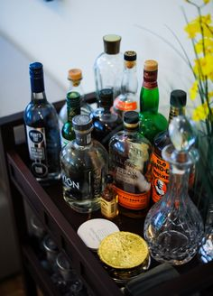 Bar Cart & Liquor Storage by FashionableHostess.com