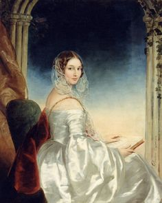 Portrait of Countess Olga Orlova-Davydova, born Princess Bariatinsky (1814-1876) (c.1840). Christina Robertson (Scottish, 1796-1854). Art Museum Radishtshev (Saratov).