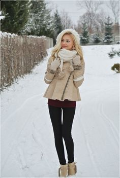 winter outfit. super cute jacket.