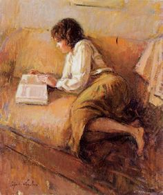 Women reading. Ricardo Cejudo Nogales.