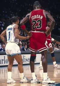 Muggsy got this close to Mike during his playing career. He shouldn't get this close to him again.