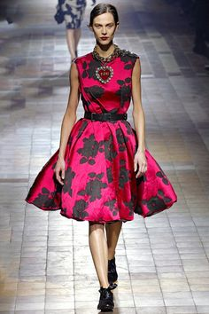 Lanvin A/W 2013 red floral dress