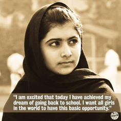 Malala Yousafzai #girlseducation
