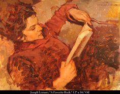 """Joseph Lorusso (American, born 1966) """"A Favorite Book"""""""