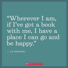 Books make places happy.