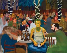 Nicole Eisenman, Beer Garden with Ash, 2009. ©NICOLE EISENMAN/COURTESY ANTON KERN GALLERY, NEW YORK; SUSANNE VIELMETTER LOS ANGELES PROJECTS; AND GALERIE BARBARA WEISS, BERLIN/PRIVATE COLLECTION, SWITZERLAND