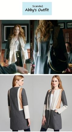 """On the blog: Abby's (Darby Stanchfield) colorblock coat   Scandal - """"Mrs. Smith Goes to Washington"""" (Ep. 303) #tvstyle #tvfashion #outfits #fashion"""