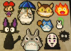 Studio Ghibli Sprites Perler Magnets/Necklaces by merkittenjewelry, $5.00