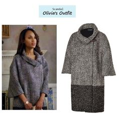 Scandal Season Finale 222: Olivia Pope's (Kerry Washington) Piazza Sempione Wool Coat #tvfashion #outfits #fashion #style