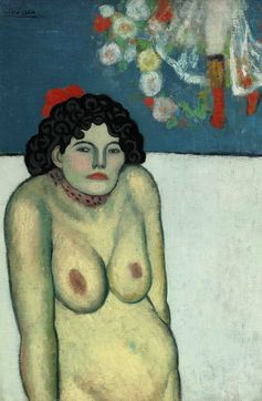 "Pablo Picasso, ""La Gommeuse,"" 1901. Property from the William I. Koch Collection.COURTESY SOTHEBY'S"