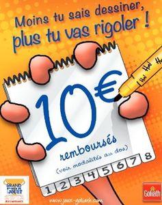 """10 euros remboursés sur le jeu """"Esquissé ?"""" de Goliath (moins 19 euros après ODR) - http://www.bons-plans-malins.com/10-euros-rembourses-jeu-esquisse-goliath-moins-19-euros-apres-odr/ #JouetsJeux, #ODR"""